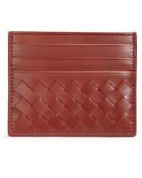 Bottega Veneta Woven Leather Card Case - Lyst