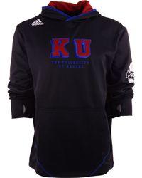 Adidas Mens Kansas Jayhawks Campus Pu Hoodie - Lyst
