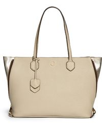 Tory Burch 'Robinson' Side Zip Pebbled Leather Tote - Lyst