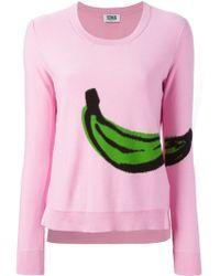 Sonia by Sonia Rykiel Banana Intarsia Knit Sweater - Lyst