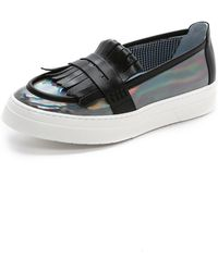 Studio Pollini - Slip On Loafer Sneakers - Dark Grey - Lyst