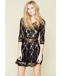 Free People Lacy Affair Dress - Lyst