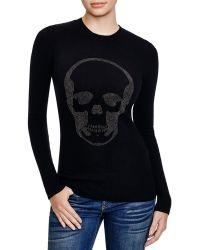 Aqua | Fitted Crewneck Skull Sweater | Lyst