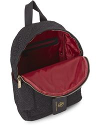 Adrienne Vittadini - Black Quilted Nylon Backpack - Lyst