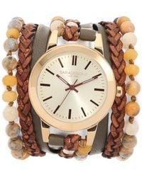 Sara Designs - Brown Sugar Wrap Watch - Olive/brown/gold - Lyst