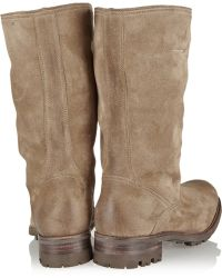 NDC Vallã©E Shearling-Lined Brushed-Suede Boots - Lyst
