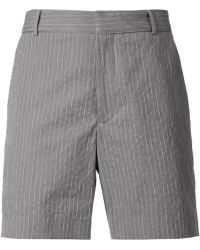 Band of Outsiders Striped Chino Shorts - Lyst