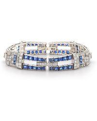 Fred Leighton - Sapphire & Diamond Bracelet - Lyst