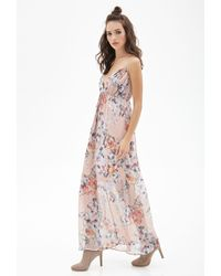 Forever 21 Watercolor Floral Cami Maxi Dress - Lyst