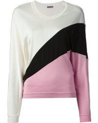 Emanuel Ungaro Colour Block Sweater - Lyst