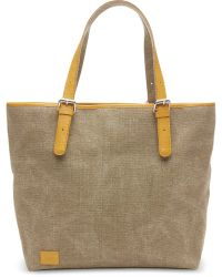 TOMS - Khaki Woven Texture Mix Vacationer Tote - Lyst