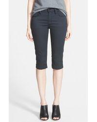 James Jeans High Rise Crop Jeans black - Lyst