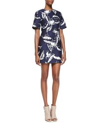 Adam Lippes Feather Shift Dress - Lyst
