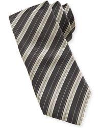 John Varvatos Striped Silk Slim Tie - Lyst
