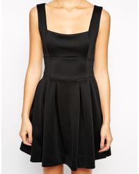 Asos Debutante Mini Dress in Scuba - Lyst