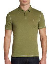 John Varvatos Embroidered Peace Sign Cotton Polo - Lyst