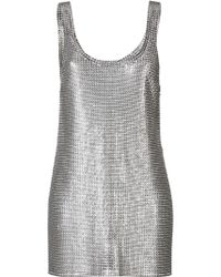 Paco Rabanne Chain Metal Dress - Lyst