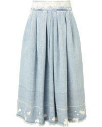 Rachel Comey Blue Acid Denim Chatham Skirt - Lyst