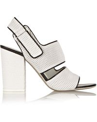 Alexander Wang Sara Mesh-Effect Leather Sandals - Lyst