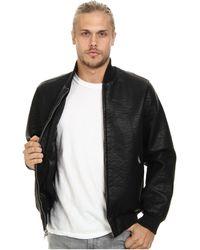 Obey Bond Vegan Leather Jacket - Lyst