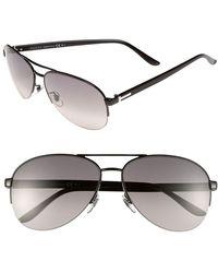 Gucci 62Mm Aviator Sunglasses - Lyst
