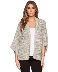 Michael Stars Kimono-Sleeve Cotton-Blend Cardigan - Lyst