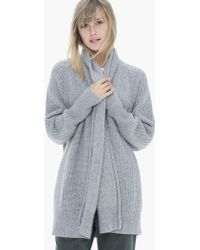 James Perse Ribbed Cashmere Cardigan - Lyst