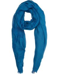Barneys New York Blue Stone-washed Scarf - Lyst