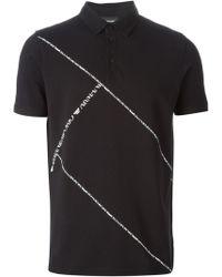 Emporio Armani Logo Print Polo Shirt - Lyst