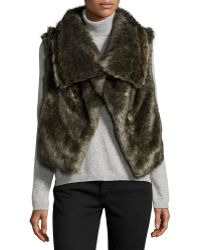 Annabelle New York - Faux-Fur Draped Collar Vest - Lyst