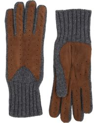 Barneys New York Gray Driving Gloves - Lyst