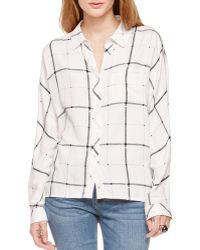 Two By Vince Camuto - Grid Plaid Utility Shirt - Lyst