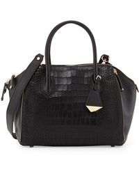Rebecca Minkoff Perry Crocprint Mini Satchel Bag - Lyst