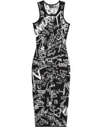 McQ by Alexander McQueen Intarsia Stretch Dress - Lyst