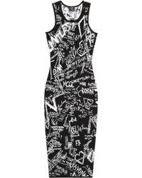 McQ by Alexander McQueen Intarsia Stretch Dress - Lyst