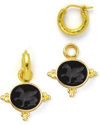 Elizabeth Locke - 19k Gold Grifo Venetian Glass Earring Pendants - Lyst