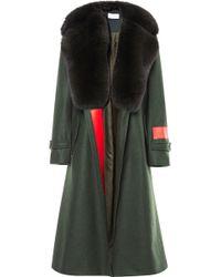 Preen By Thornton Bregazzi Beru Coat with Fox - Lyst