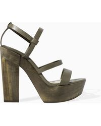 Zara Leather Platform Sandal - Lyst