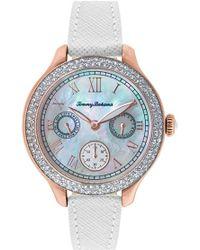 Tommy Bahama - 'waikiki Dream' Crystal Bezel Multifunction Watch - Lyst