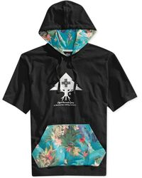 LRG Vacation Club Shortsleeve Layering Hoodie Pullover - Lyst