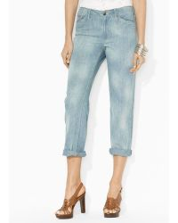 Ralph Lauren Lauren Fantu Denim Jeans in Beach Wash - Lyst