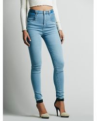 Free People Jennifer Ultra Hi Rise Skinny - Lyst