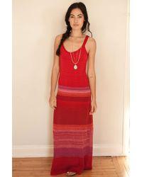 Goddis Knit Maxi Dress - Lyst