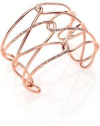 Alexis Bittar Miss Havisham Liquid Crystal Barbed Cuff Bracelet/Rose Goldtone pink - Lyst