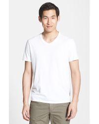 Vince Short Sleeve V-Neck T-Shirt - Lyst