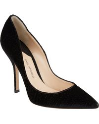 Paul Andrew Velvet Shakti Crocstamped Pumps - Lyst