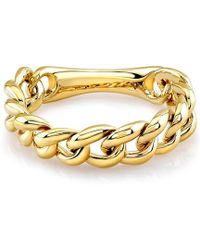 Anne Sisteron 14Kt Yellow Gold Thin Chain Link Ring - Lyst