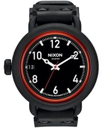 Nixon October All Black Red Watch black - Lyst