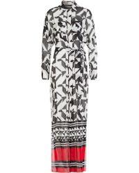 Alexandre Vauthier Printed Silk Maxi Dress - Lyst