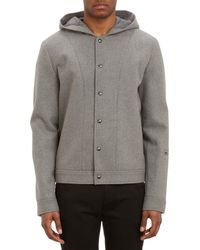 T By Alexander Wang - Wool Hooded Bomber Jacket - Lyst